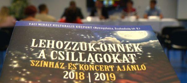 Színházi darabokkal és különleges koncertekkel kezdi az őszi szezont a Váci Mihály Kulturális Központ.
