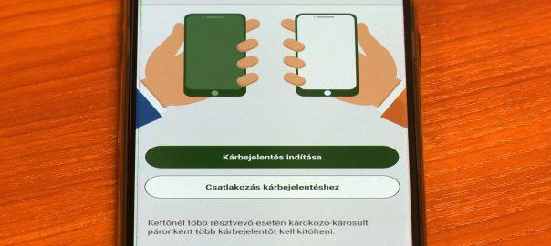 Már mobiltelefonon keresztül is intézhetik a kötelező gépjármű felelősség biztosítási károk bejelentését az autósok.